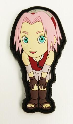 "Naruto Shippuden Sakura Haruno PVC Removable Hook /& Loop 2.75/"" Patch YAPP0002 US"