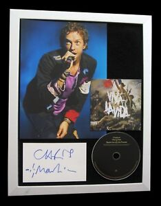 COLDPLAY-CHRIS-MARTIN-SIGNED-FRAMED-VIVA-VIDA-100-AUTHENTIC-EXPRESS-GLOBAL-SHIP