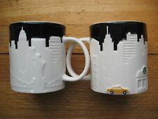 NEW YORK CITY CERAMIC TAXI RELIEF MUG FROM STARBUCKS-NEVER USED
