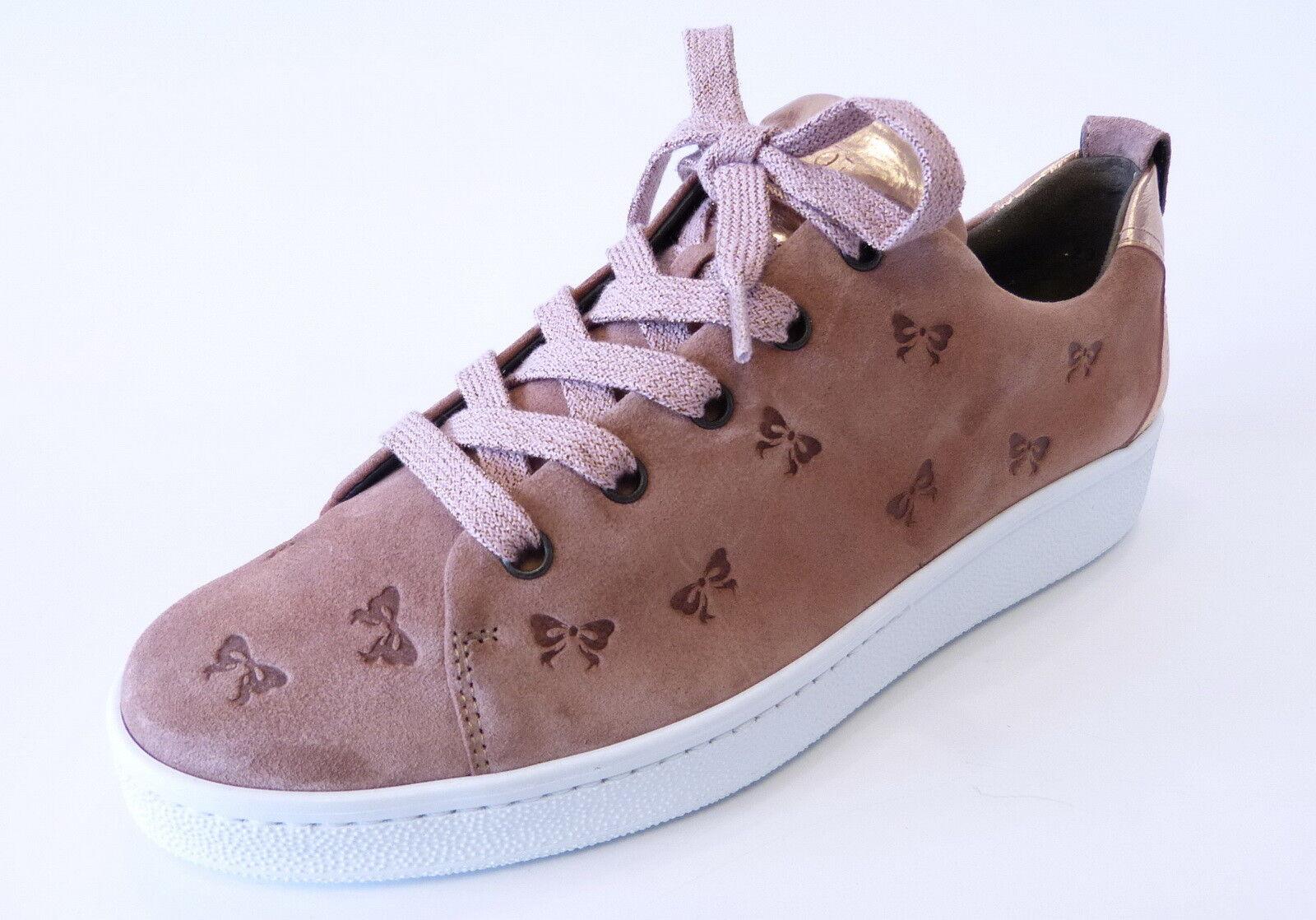 Paul Green Sneaker 4538 001 rosa rose oldrose Nubuk Leder Pauls Schleife