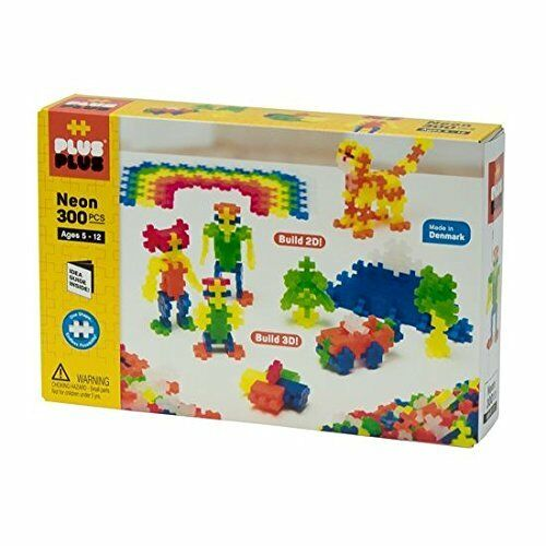 PLUS PLUS 300 Piece NEON COLOR Set Puzzle Piece-Shaped Building Toy