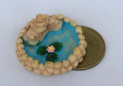 1:24 Scale Resin Lilly Pond 2.5cm Diameter Tumdee Dolls House Garden Accessory