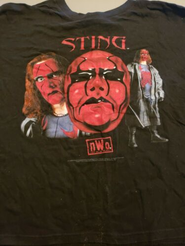 Vintage 1998 Sting WCW Youth XLarge Wrestling WCW
