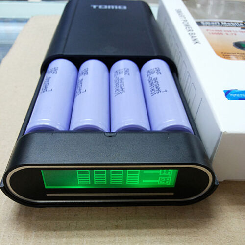 LCD Display 4 Slot 18650 Battery Charger Box Mobile Power Bank For Cellphone