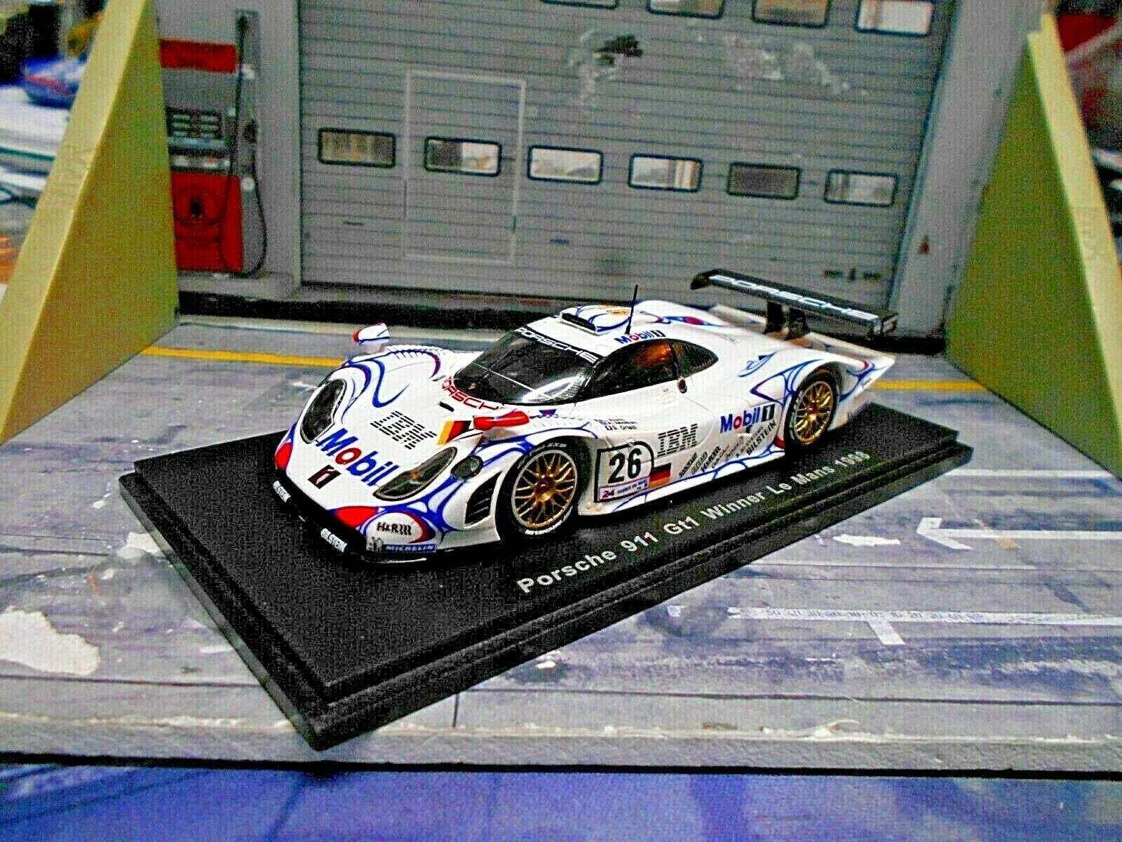 Porsche 911 gt1 EVO LE MANS WINNER 1998  26 McNish Aiello mobile IBM Spark 1 43
