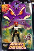 1996 Mattel--mighty Ducks--spin Attack Mallory Figure (new)