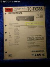 Sony Service Manual TC TX333 Cassette Deck (#4619)