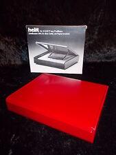 70er Design HELIT Zettelkasten DIN A6 rot Entwurf Walter Zeischegg 1975