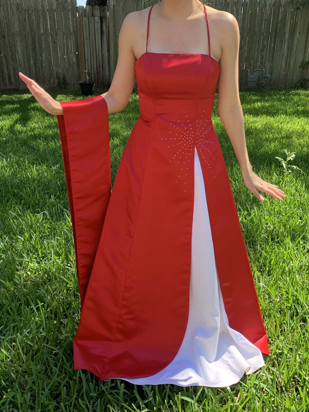 Red/white Prom Dress - image 3