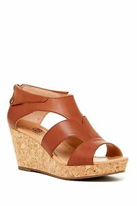 e9d4ca5f2 Image is loading New-Ciao-Bella-Lucy-Cork-Wedge-Leather-Sandals-