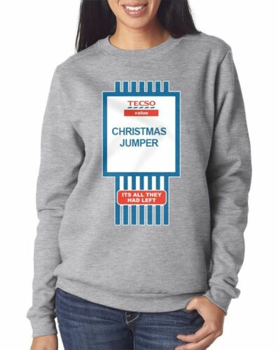 Womens Xmas Party Bad Taste Tacky Ugly Tecso Value Funny Christmas Jumper