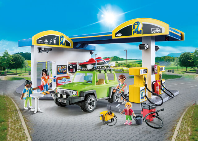 PLAYMOBIL® 70201 Large Fuel Station - S&H FREE WORLDWIDE - NEW 2019