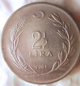 1961-Tacchino-2-1-2-Lira-Eccellente-Moneta-Mezzo-East-Bin-4