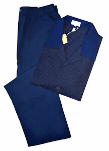 Brioni-Men-039-s-Navy-Blue-Striped-100-Cotton-Striped-Pajamas