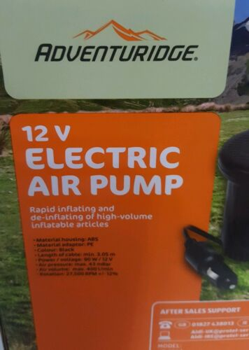 12v Car Electric Air Pump Inflator De-inflating for Airbeds Paddling Pools Toys