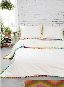 New Urban Outfitters Magical Thinking Pom Fringe Duvet