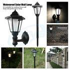 HOT Solar Powered Wall Mount LED Light Outdoor Garden Landscape Fence Yard Lamp