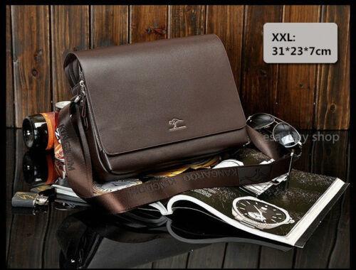 Kangaroo Mens Leather Satchel Crossbody Shoulder Bag Messenger Bag Briefcase NEW
