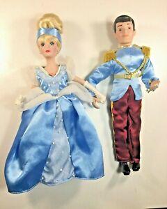 Disney-Porcelain-Cinderella-amp-Prince-Charming-Figures-Doll-Brass-Key-Reflections