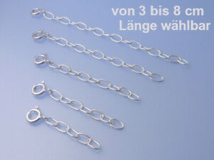 Echt-925-Silber-Ketten-verlaengerung-in-3-4-5-6-8-cm-Laenge-waehlbar-ovale