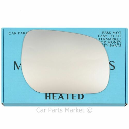 Right Driver side Flat Wing door mirror glass for Toyota RAV 4 2005-2012 heated