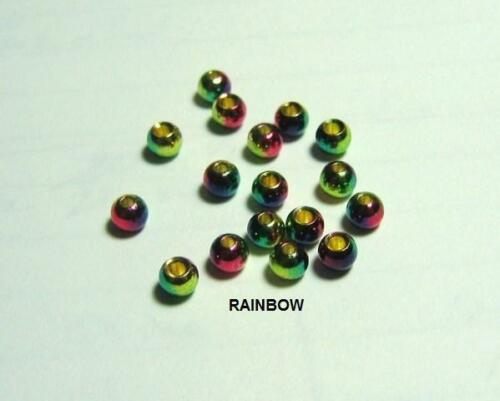 25 fly tying brass beads/>RAINBOW/>25 beads/>7 sizes available/>COMBINE SHIPPING