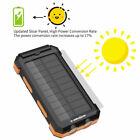 X-DRAGON 10000 mAh Portable External Solar Power Bank - Black/Orange