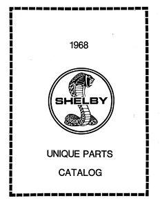 1968 Ford Mustang Parts Catalog