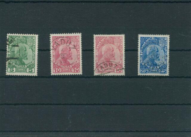 Liechtenstein 1912 Mi. 1, 2, 3 Postmarked Used More See. Shop