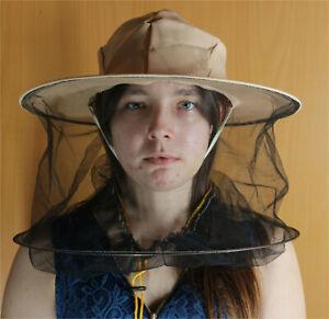 Imker Hut mit Schleier und Kordelzug hellbeige Imkerbekleidung Imkerei Bienen