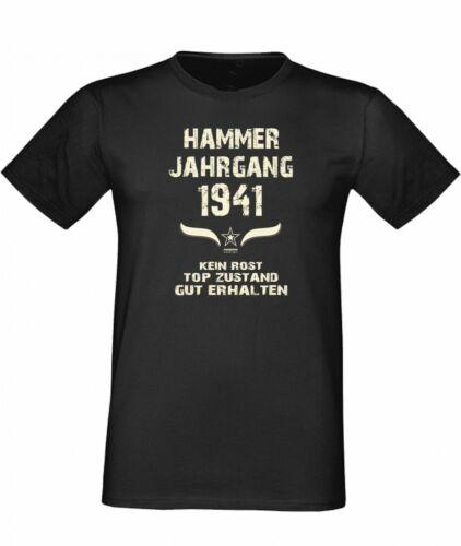 Geschenk Funshirt lustig Humor 76 Hammer Jahrgang 1941 T-Shirt Geburtstag