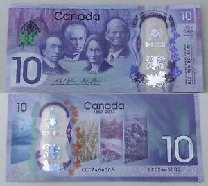 Kanada / Canada 10 Dollars 2017 Polymer p112 unz.