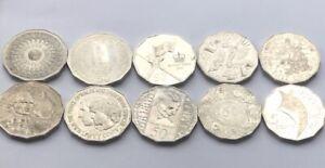 10x-Australian-50-Cent-Coin-Set-Commemorative-Coin-Collection-1977-2014