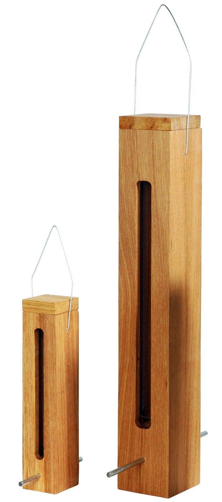 Eiche-Holz Vogelhaus Futterspender Wildvögel Futtersäule Futterautomat Vögel | Verrückte Preis  | Primäre Qualität  | Eleganter Stil