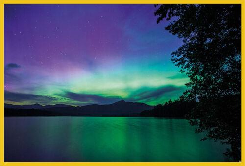 Größe 91,5x61 cm BBC Earth Northern Lights Poster Druck Landschaften