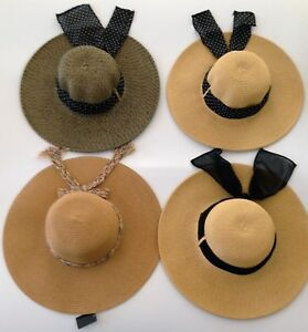 cfa807e983b New Women s Crushable Packable Wide Brim Straw Floppy Hat SPF50 ...