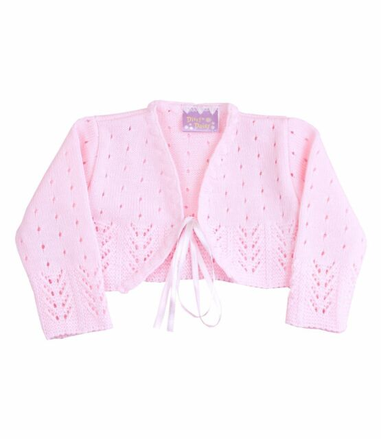 7f42393a0191 BabyPrem Baby Girls Clothes Pink White Knitted Fancy Bolero Cardigan ...