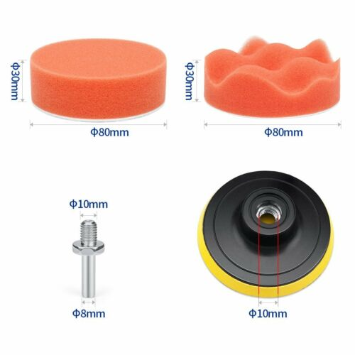 Car Foam Polishing Pad Kit Auto Buffing Pads Sponge For Drill 3 Inches 22 Pieces