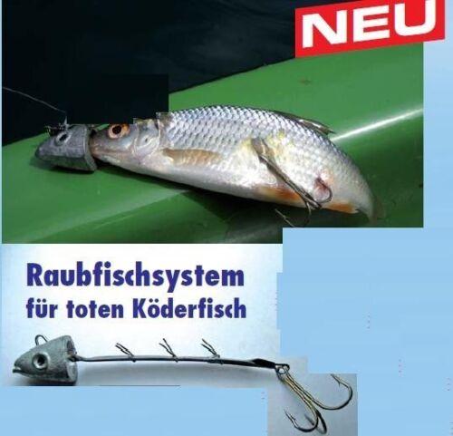Raubfisch System Bleikopf tote Köderfische 12-15cm