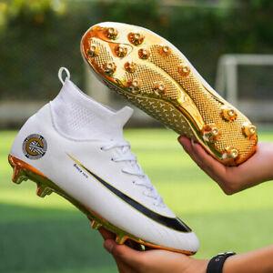 Men-039-s-Spike-S-Football-Boots-occer-Shoes-Sneaker-Soccer-Cleats-High-top-Football