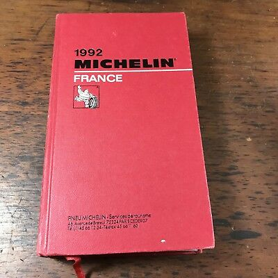 1992 Michelin Red Guide France