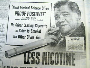 1946-NY-Times-newspaper-BABE-RUTH-RALEIGH-CIGARETTES-AD-b4-his-CANCER-DIAGNOSIS