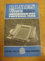 30/08/1961 Birmingham City v Nottingham Forest  (folded, rusty staples). Thanks