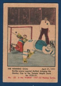 THE-WINNING-GOAL-51-52-PARKHURST-1951-52-NO-52-VGEX-25144