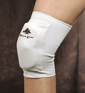 Knee protector Schutz Martial arts pads by Pine Tree white