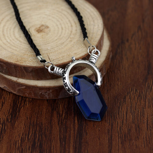 1Pc Dante Vergil Crystal Plated Pendant Necklace Red Blue Men Women Game Jewelry