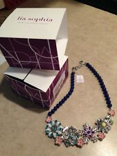 New With Tags Lia Sophia Full Bloom Necklace