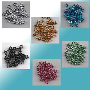 SUPERBE-Eyelets-Rivets-Oeillets-etoiles-50-pcs-8-MM-x-3-mm-couleur-choisir