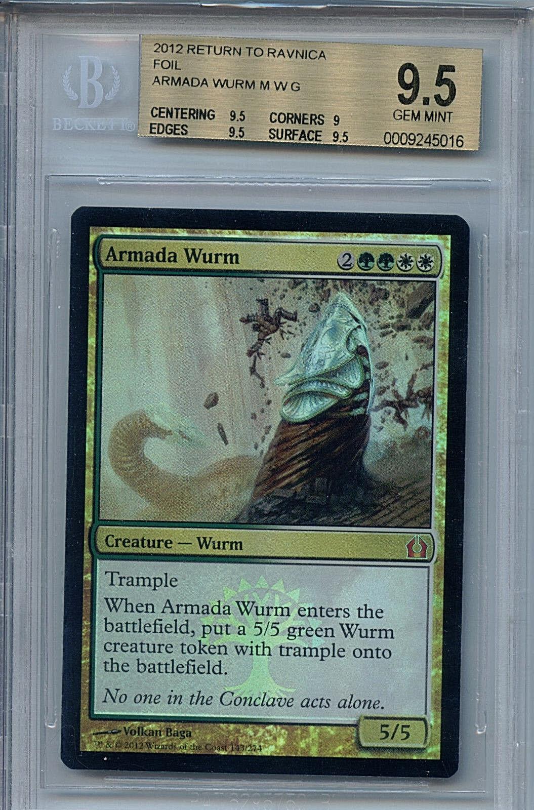 MTG Armada Armada Armada Wurm BGS 9.5 GM Return to Ravnica Mystic Foil Magic Card Amricons d48ff3