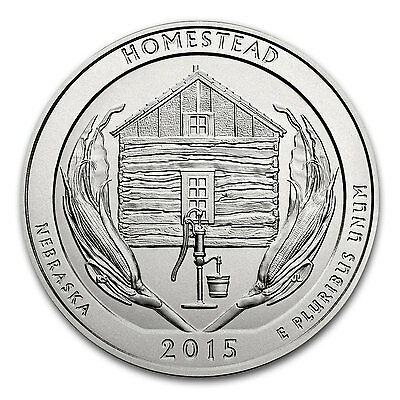 2015 5 oz Silver ATB Homestead National Park, NE - SKU #87606